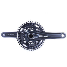 Shimano Deore FC-M612-L MTB Crankset 10-speed 40-30-22 Black 170mm