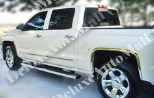 Chrome Stainless Fender Trims (4 Pieces Set) FIT 2014-2015 Chevy Silverado 1500