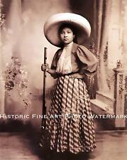 MEXICAN REVOLUTION VINTAGE PHOTO SOLDADERAS WOMAN IN THE ARMY WAR 8x10 #22060