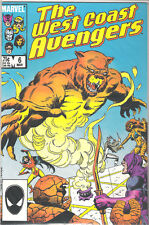WEST COAST AVENGERS #6 COMIC HAWKEYE TIGRA THING COPPER AGE