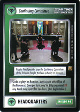 STAR TREK CCG RULES OF ACQUISITION RARE CARD CONTINUING COMMITTEE