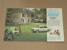 Prospectus SIMCA 1000 ,  catalogue, prospekt, brochure