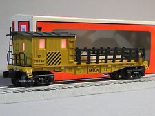 LIONEL MOW TIE WORK CABOOSE ILLUMINATED 77 train rail lighted car 6-82092 NEW