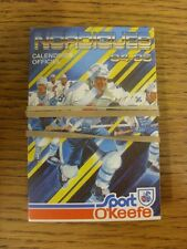 1984/1985 Fixture Card: Ice Hockey - Nordiques Quebec (fold out style). Any faul