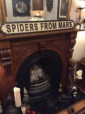 David Bowie Spiders From Mars Wooden Carved Street Sign Ziggy Stardust Starman