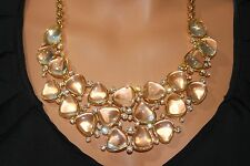 NW/OT Kenneth Jay Lane Clear Crystal Statement Bib Necklace Couture Collection