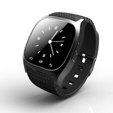 M26 Bluetooth Smart Wrist Bracelet Watch Phone for Android Samsung iPhone Black