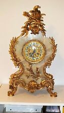 55cm H AD. MOUGIN PARIS schwere ONYX BOULLE Uhr-Tischuhr mit tolle BRONZE