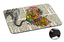 571 elephant Floral Trunk Anti-slip Mousepad Mouse Pad For Macbook PC Laptop-3MM