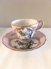 DEMI TASSE CUP AND SAUCER GOLD TRIM MADE IN JAPAN