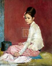 "SIR GERALD KELLY ""Burmese Silk"" burma SEE OUR EBAY SHOP SIZE:60cm x 50cm NEW"