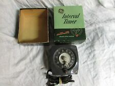 Vintage GE Interval Timer Model T48 Original Box Darkroom X-Ray electric time