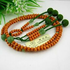Juzu,plum wood nenju,nichiren bead handicraft,green woven string ball SGI 5 legs