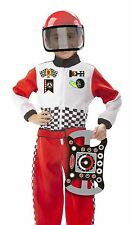 New Melissa & Doug Race Car Driver 3 Pcs Role Play Fancy Dress Costume Set [3-6]