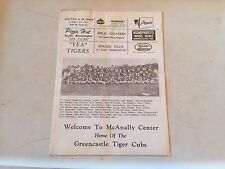 Indiana High School Football GREENCASTLE Advertising Paper