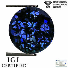 3.78 Ct IGI Certified AA Natural D Block Tanzanite Blue Violet Round Cut
