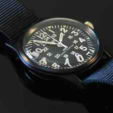 MWC Matt Black 1960/70s Vietnam Pattern Military Watch Black Webbing NEW BOXED