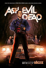 ASH VS THE EVIL DEAD BRUCE CAMPBELL HORROR TV SHOW POSTER A4 260GSM