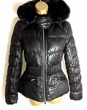 KAREN MILLEN SIGNATURE PADDED WINTER COAT WITH FAUX FUR TRIMMED HOOD SIZE 12