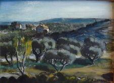 Auguste CHABAUD (1882-1955) huile sur carton Paysage de Provence v