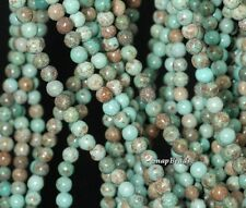 4MM BOULDER CREEK QUEEN TURQUOISE GEMSTONE ROUND 4MM LOOSE BEADS 16""