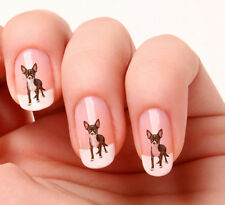 20 Nail Art Stickers Transfers Decals #395 - Chihuahua Just peel & stick