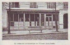 1904  --  RESTAURANT ANTIALCOOLIQUE DE L AVENUE LEDRU ROLLIN  T051