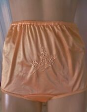 """JUICY APRICOT EMBROIDERED SHEER SATIN """"NOT YOUR GRANNY'S"""" PANTY 9/2X"""