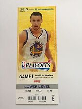 1 Golden State Warriors 2013 Playoff Stub featuring Stephen Steph Curry!