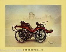 Poster Oldtimer Lanchester 1895  37,5x30,5 cm Oldtimerposter Autoposter vintage