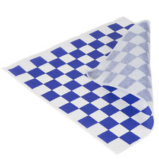 "50 sheets Blue and White Checkered Deli Wrap Paper 12""x12""  Wax Paper"