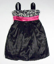 CITY TRIANGLES JUNIORS 3 DRESS ZEBRA PRINT PARTY PROM HOMECOMING COCKTAIL PINK