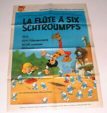Poster Spirou 1976 Schtroumpfs PEYO + aviation