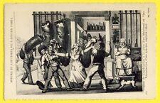 cpa Gravure Anglaise Ancienne PARIS Marchand de VINS Dispute de CHARBONNIERS