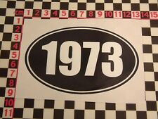 1973 Year Sticker - Morris MG Leyland Vauxhall Jaguar Land Rover Ford Birthday