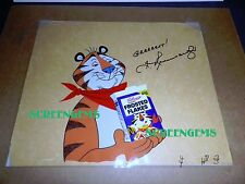 Tony the Tiger signed TV animation cel 1974 voice Thurl Ravenscroft rare GREAT !