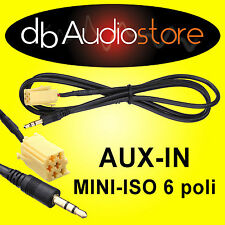 Cavo Interfaccia AUX In Out adapter Lancia Delta x lettore mp3 ipod CD Car