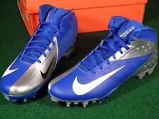 NIB New Nike Vapor Talon Elite 3/4 TD Football Cleats Blue Silver sz 12.5 511335
