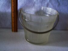 """LEAD CRYSTAL ICE BUCKET 5"""" TALL X 6"""" WIDE  PERFECT CONDITION  NO DAMAGE #447"""