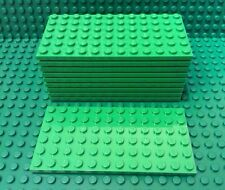 LEGO Lot Of 10 Bright Green 6 X 12 Base Plate NEW Bulk Lot Part 3028 Plates