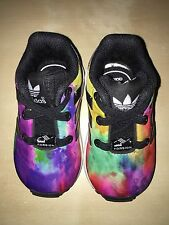 Toddler Baby Adidas ZX Flux Torsion Colorful Sneaker Size 4