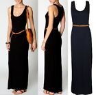 LADIES WOMEN LAURA RACER BACK BELTED BOOHOO MAXI DRESS SIZE 6,,8,10,12,14,16