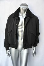IVANO BIAGI - ITALY Mens Grey Herringbone Jacket+Knit Inserts Double-Collar 44