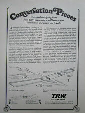 12/1972 PUB TRW SYSTEMS GROUP AUTOMATIC ZERO VISIBILITY LANDING ORIGINAL AD