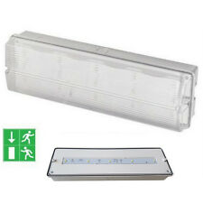 Maintained / Non Maintained LED Safety Emergency Light Bulkhead Batten Fire Exit