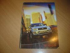 CATALOGUE Toyota RAV 4 de 2002