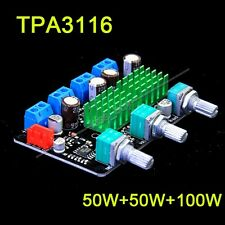 HIFI TPA3116 2.1CH high-power subwoofer/digital amplifier board 50W+50W+100W 12V