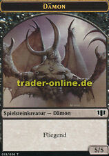 2x Spielstein Dämon 5/5 (Token Demon 5/5) Commander 2014 Magic
