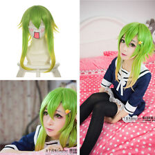 "New VOCALOID GUMI Camellia Megpoid Anti Alice 45cm /17.7"" Green Mix Cosplay Wig"