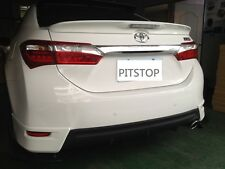 Toyota Corolla Altis ASIA 2014-on ABS LED rear trunk lip spoiler-Unpainted